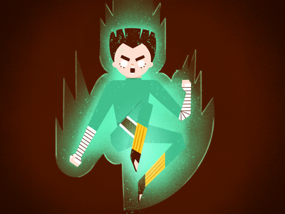 Rock Lee 💚 ninja rock lee naruto illustration