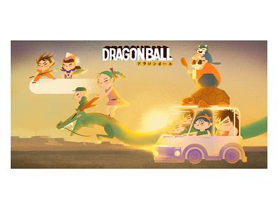 Dragon ball poster dragon dragon ball z hoshi bulma goku dragon ball illustration