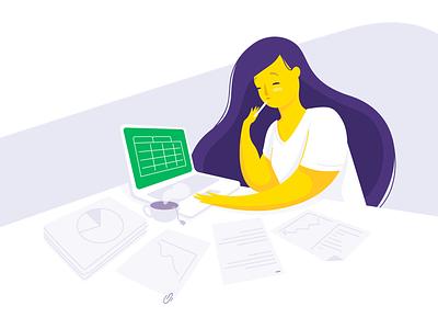 busy girl • Ori 🤖 💸 woman ori money illustration financial chatbot bot banking bank banco original