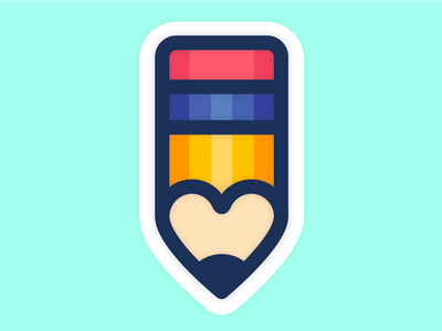 small pencil love ✏️💕 icon iconography heart pencil illustration