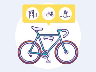 illustration for a bike shop