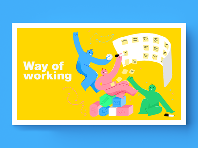 Way of Working stockholm designit illustration