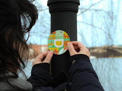 Designit Stockholm Sticker sweden designit stockholm illustration