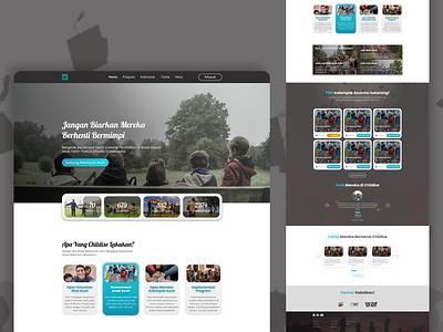 Childise.id - Landing Page Design logo ui web concept branding web design design