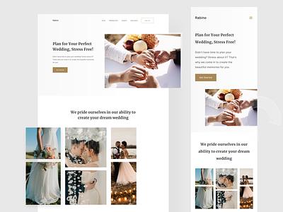 Rabino - Wedding Organizer Website & Responsive weddingorganizer wedding responsivemobile responsive webdesign website ux userinterface ui branding minimal clean design