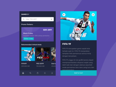 Daily UI #012 -  (GameBoy) E-Commerce for Gamers