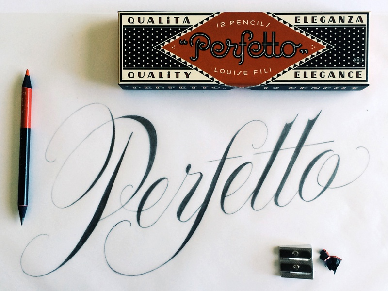 Perfetto Pencil Sketch lettering drawing script pencil handlettering calligraphy typography
