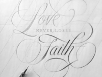 Love Never Loses Faith Sketch