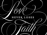 Love never loses faith