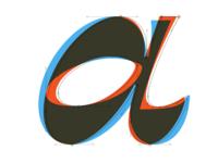 Reverse contrast italic 'a' study
