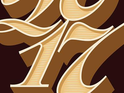 Happy 2017 illustration retro lettering font typeface type script