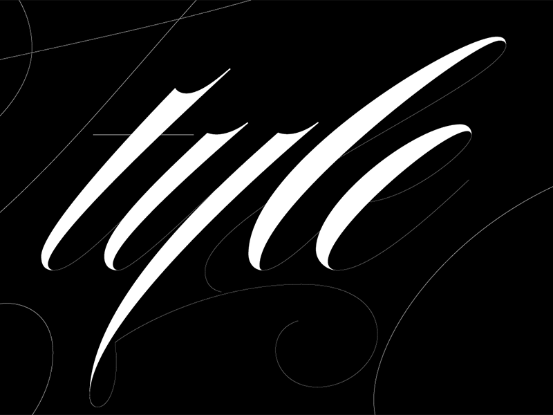Style Hairline headline blog editorial swash typography drawing type script lettering