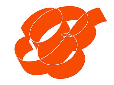 Script B typography type logotype script lettering