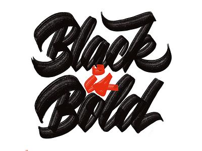 Black Is Bold calligraphy procreate app ipad pro brushlettering brushscript brushpen script lettering