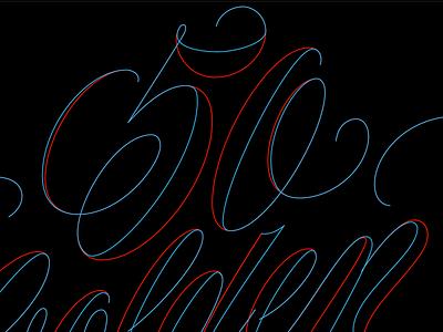 High Contrast Script illustrator vector flourish swash script lettering