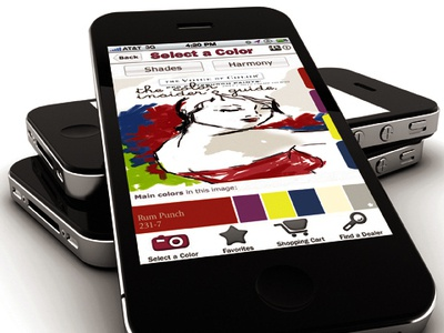 Voice of Color Mobile App Design mobile app design ppg industries voice of color iphone