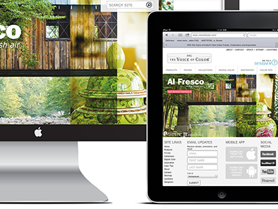 Responsive Voice of Color Web Site Design responsive design voice of color ppg industries web ipad tablet