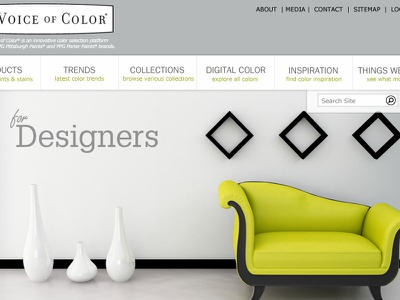 Interior Designer Mock-Up interior web design