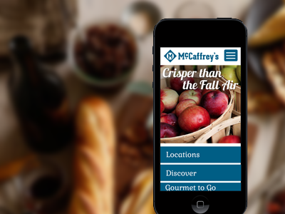 McCaffrey's Pitch responsive design mobile