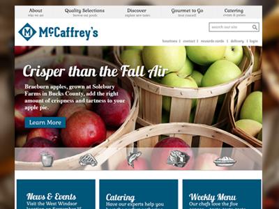 McCaffrey's Pitch ui web design