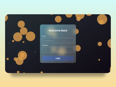 Glass Login with Particle.js login screen login page login particle js particle minimal ui design figma ui glassmorphic glassmorphism glass design