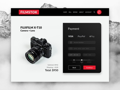 Daily UI 002 - FilmStok Credit Card Checkout