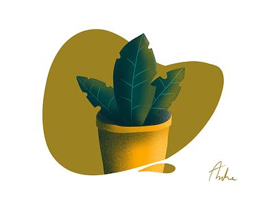 A plant decorations dirt soil ikea yellow green leaf pot plant