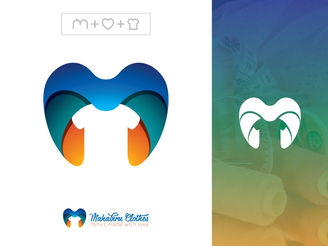 M logo design   colorful letter m logo