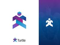 Turtle Logo Design Icon
