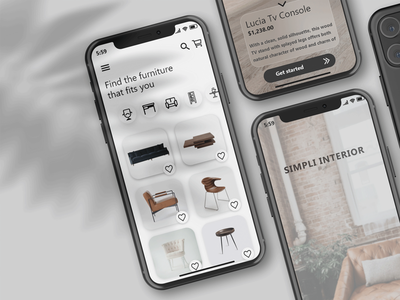Simpli Furniture UI product design web design ui furniture website furniture design furniture app