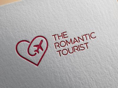 The Romantic Tourist plane heart lgo tourist logo romantic logo