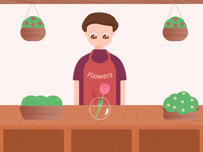 Flowers seller