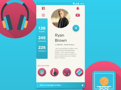 Profile Page for social activity app