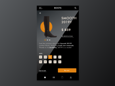 Product Page for android clothing app