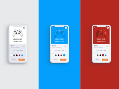 E-Commerce App Product Page Concept - Xbox Controllers