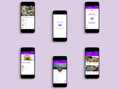 WhatMeal App Case Study android app design android ux ui recipe app case study food app material design