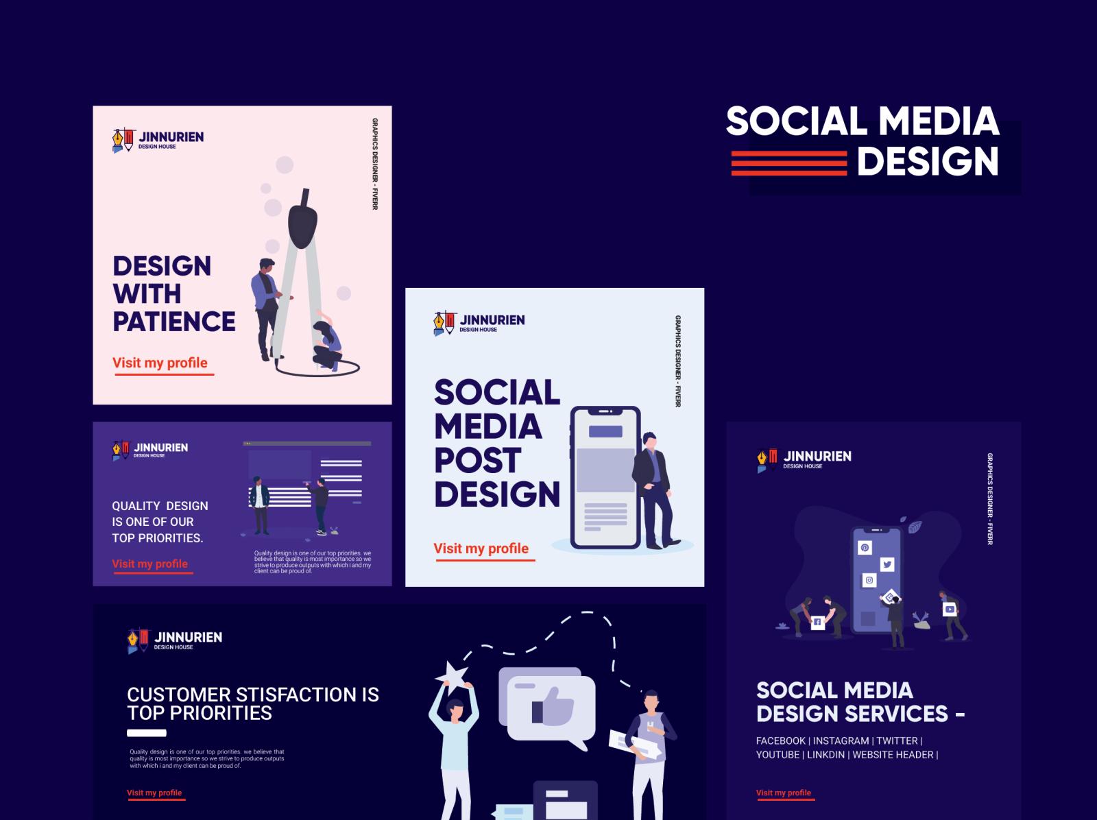 Personal Social Media Post Design By Jinnurien Nuraien On Dribbble