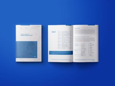 Course list booklet design.