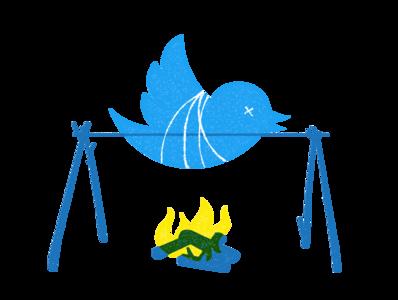 Tweet Roast editorial illustration illustration digital illustration