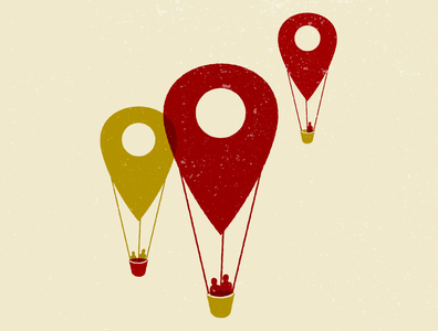 Destination illustration digital illustration editorial illustration