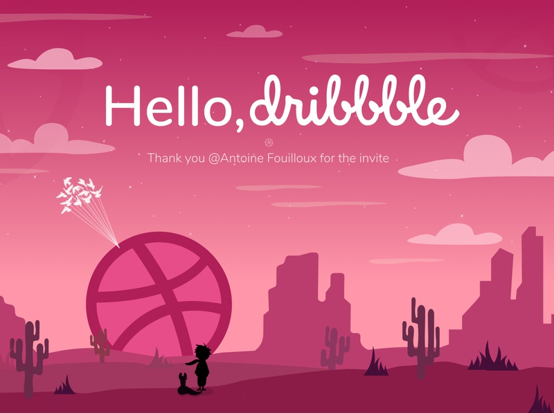 Hello, Dribbble ui flat vector little prince illustration thankyou @antoine fouilloux
