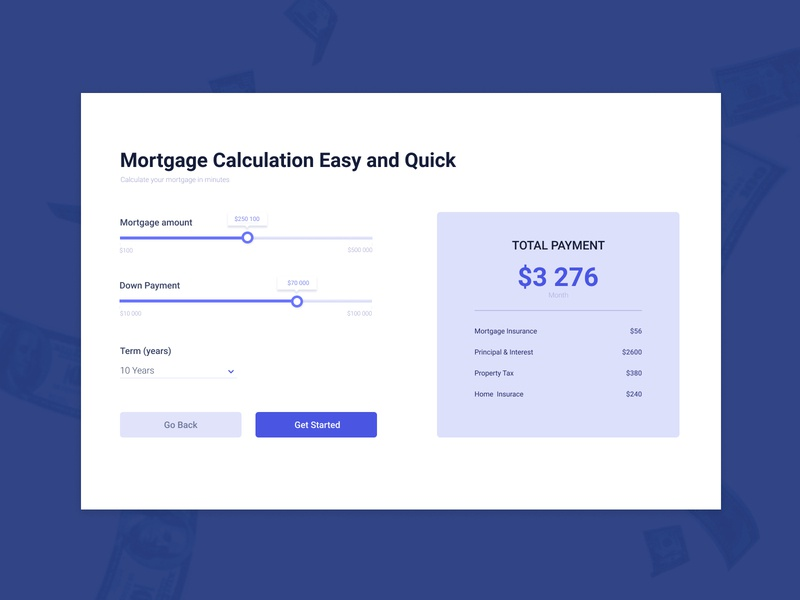 Mortgage Calculation design ui mortgage calculation mortgage calculation