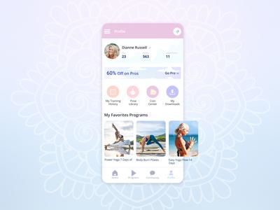 User Profile design ui yoga app app user profile challenge