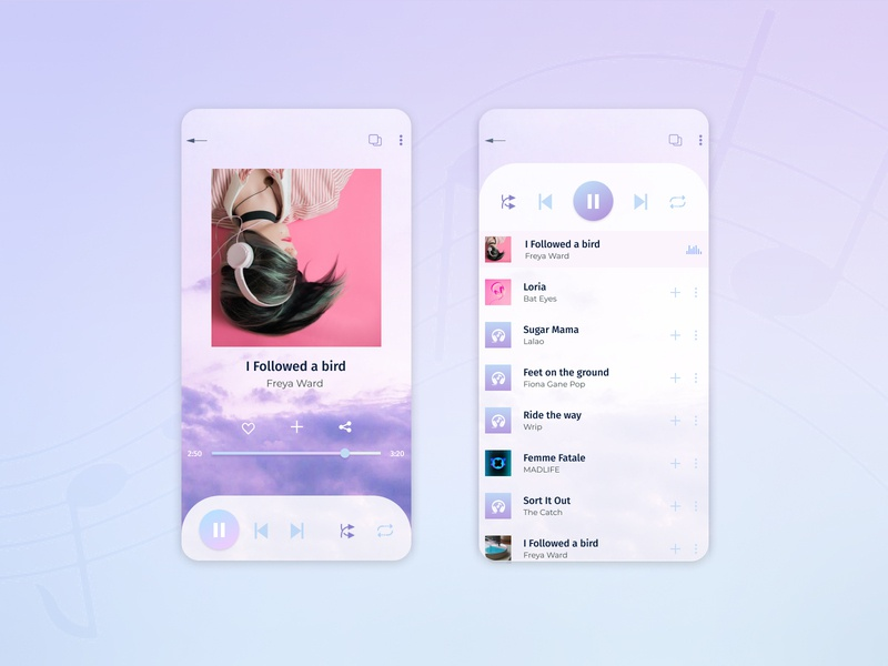 Music Player app music plauer music ui design challenge dailyui music player
