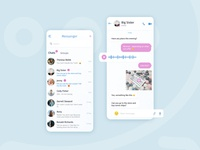 Direct Messaging chat contacts message app design ui dailyui challenge messenger