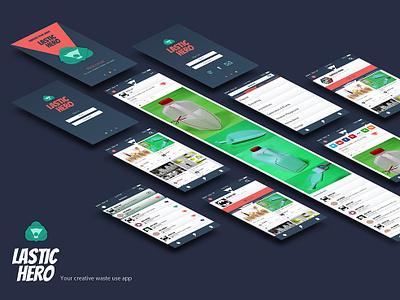 Lastic Hero App user interface design branding illustration design ui