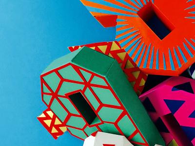 Paperfigures paper art set design set number design craft papercraft paper