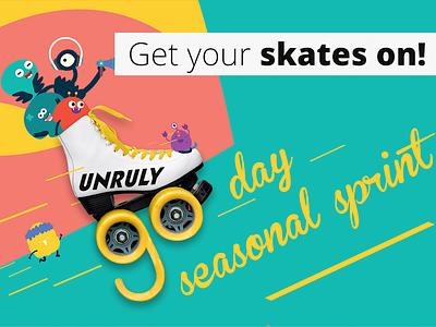 90 Day Seasonal Sprint vector poster art poster illustration design