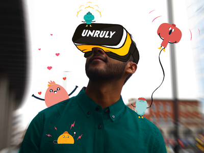 Unruly VR World vr world virtual reality vr overdrawing illustration art director design illustration art photography graphic set illustration design