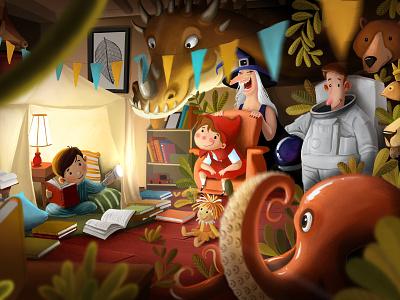 imagination publish game artist concept character concept art children book book design design art ilustração procreate art illustraiton digital 2d book art childbook